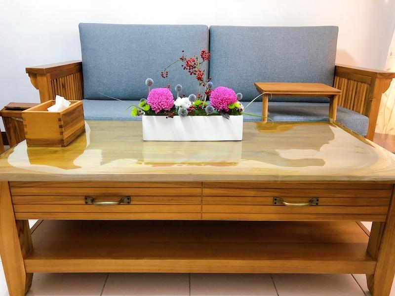 婕琳花藝設計點綴客廳